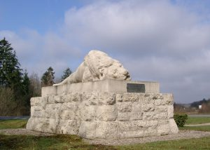 Monument of 130th French Infantery Division in front of the Fort Souville