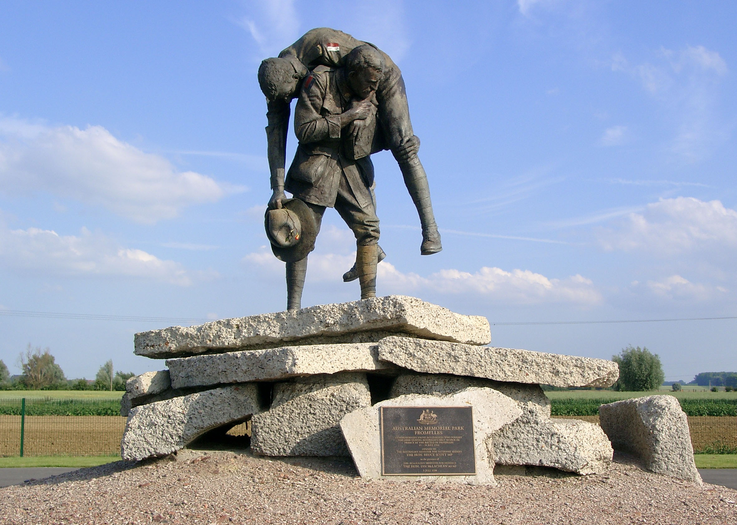 Australian Monument at Fromelles close to the No-Mans-Land