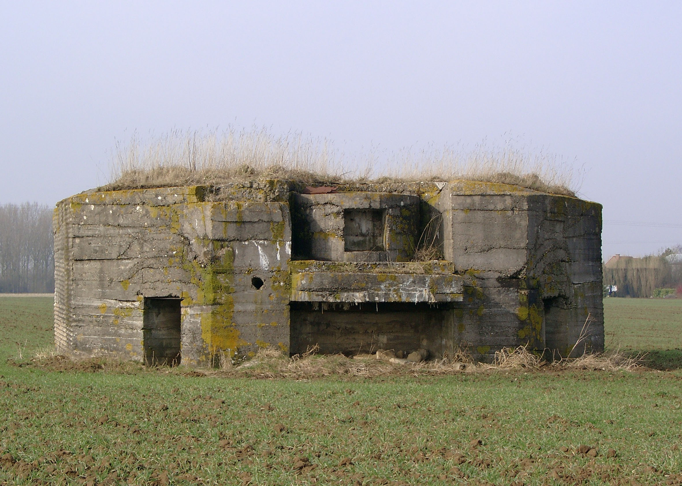 German Concrete Bunker at the Edge of Aubers