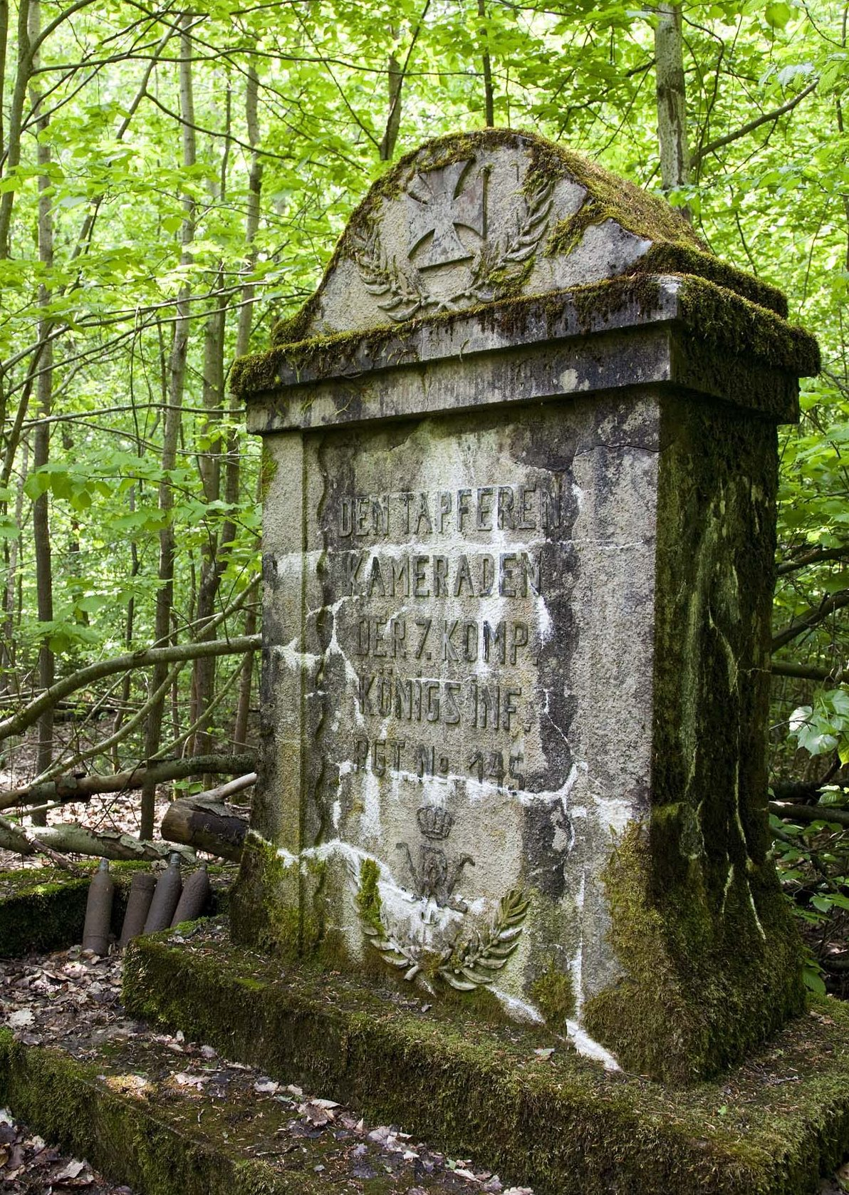 Monument from German Infantry Regiment 145 in the Argonne Forest