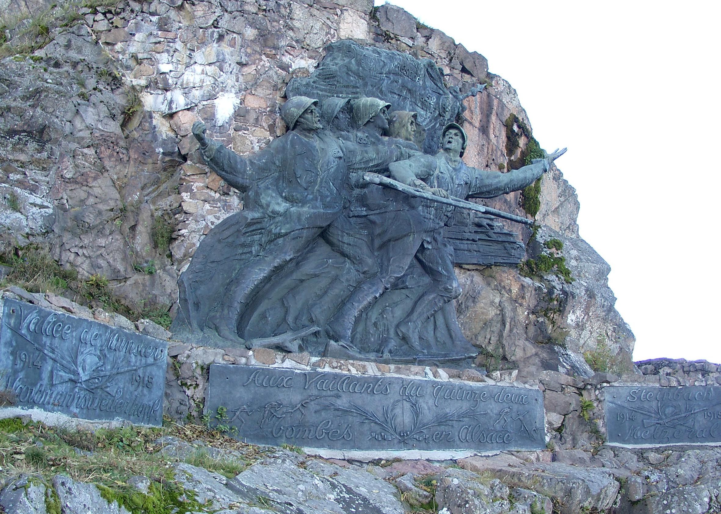 "Monument from French Infantery Regiment 152, the ""Red Devils"""