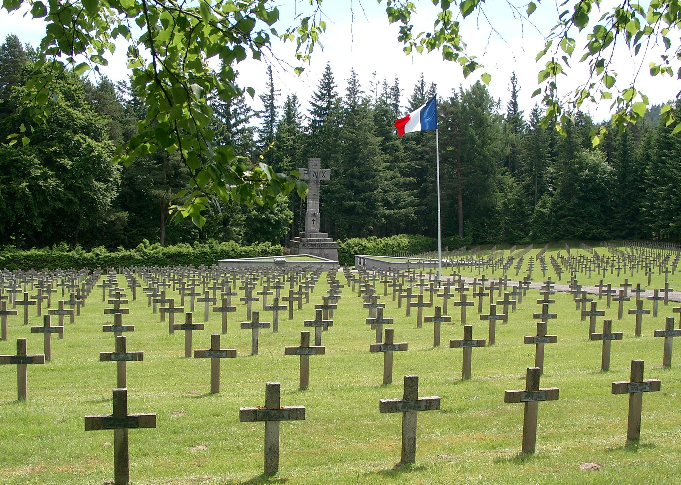 "French Military Cemetery at Orbey ""Le Wettstein"""