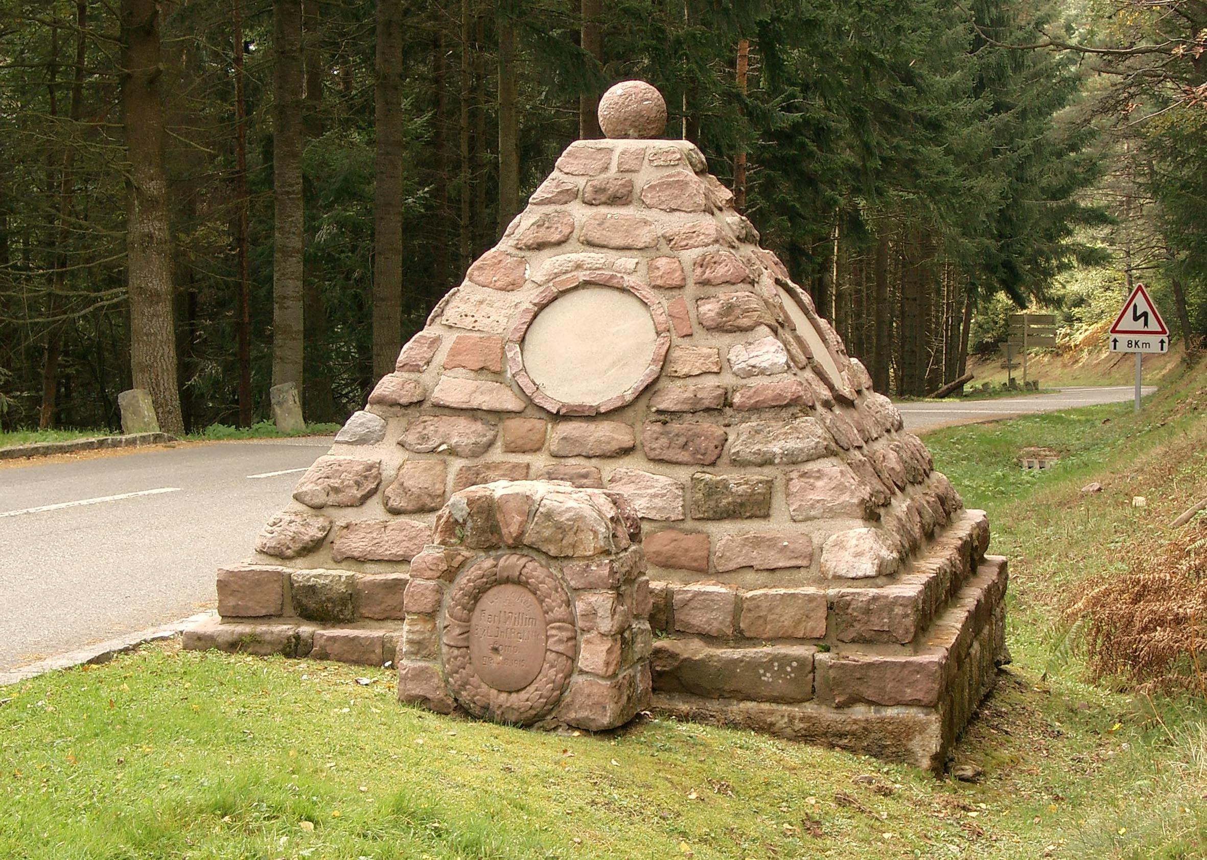 German Monument at Bärenstall close to Hohrod