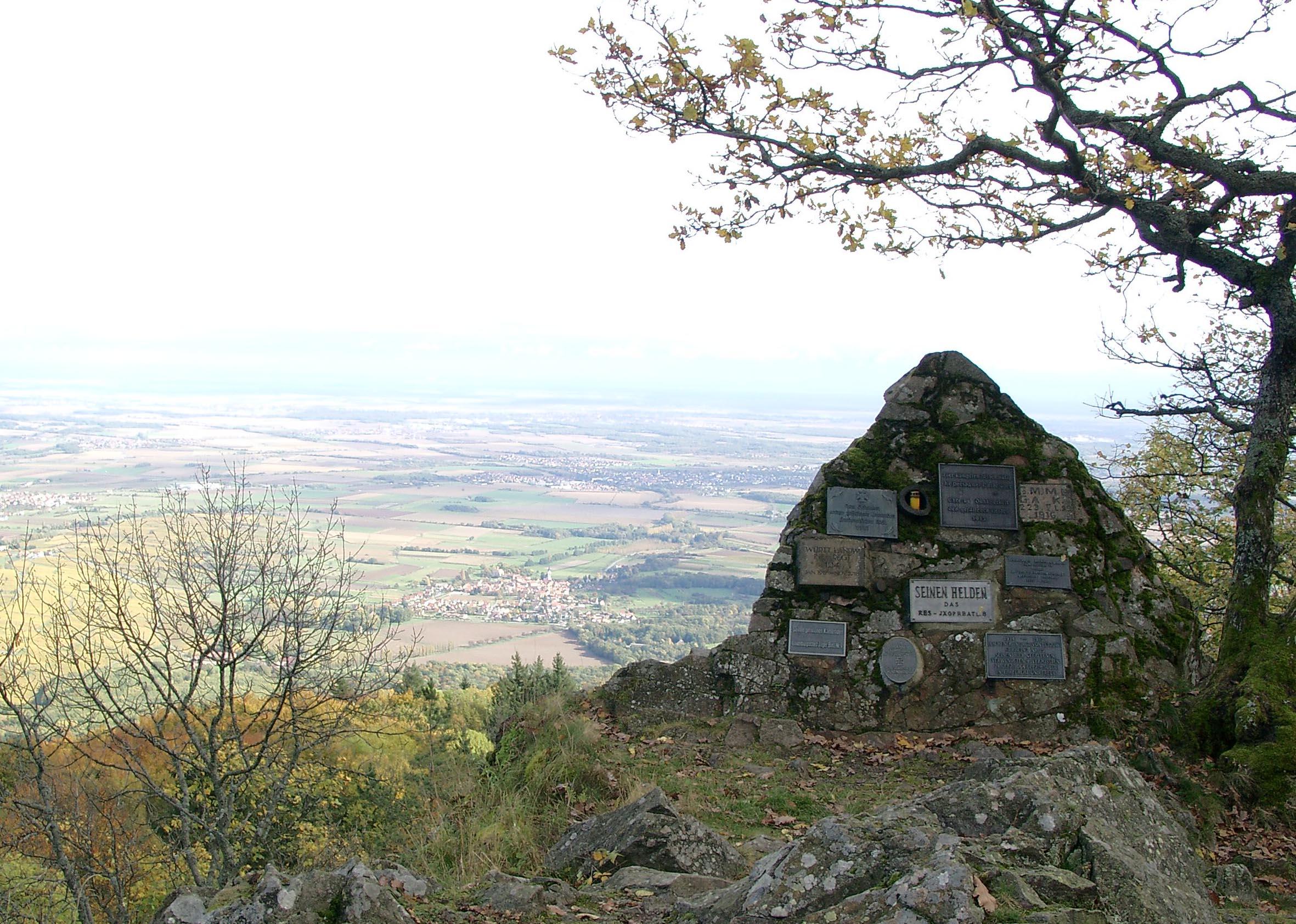 Aussichtsfelsen with German Monument at the Hartmannsweilerkopf