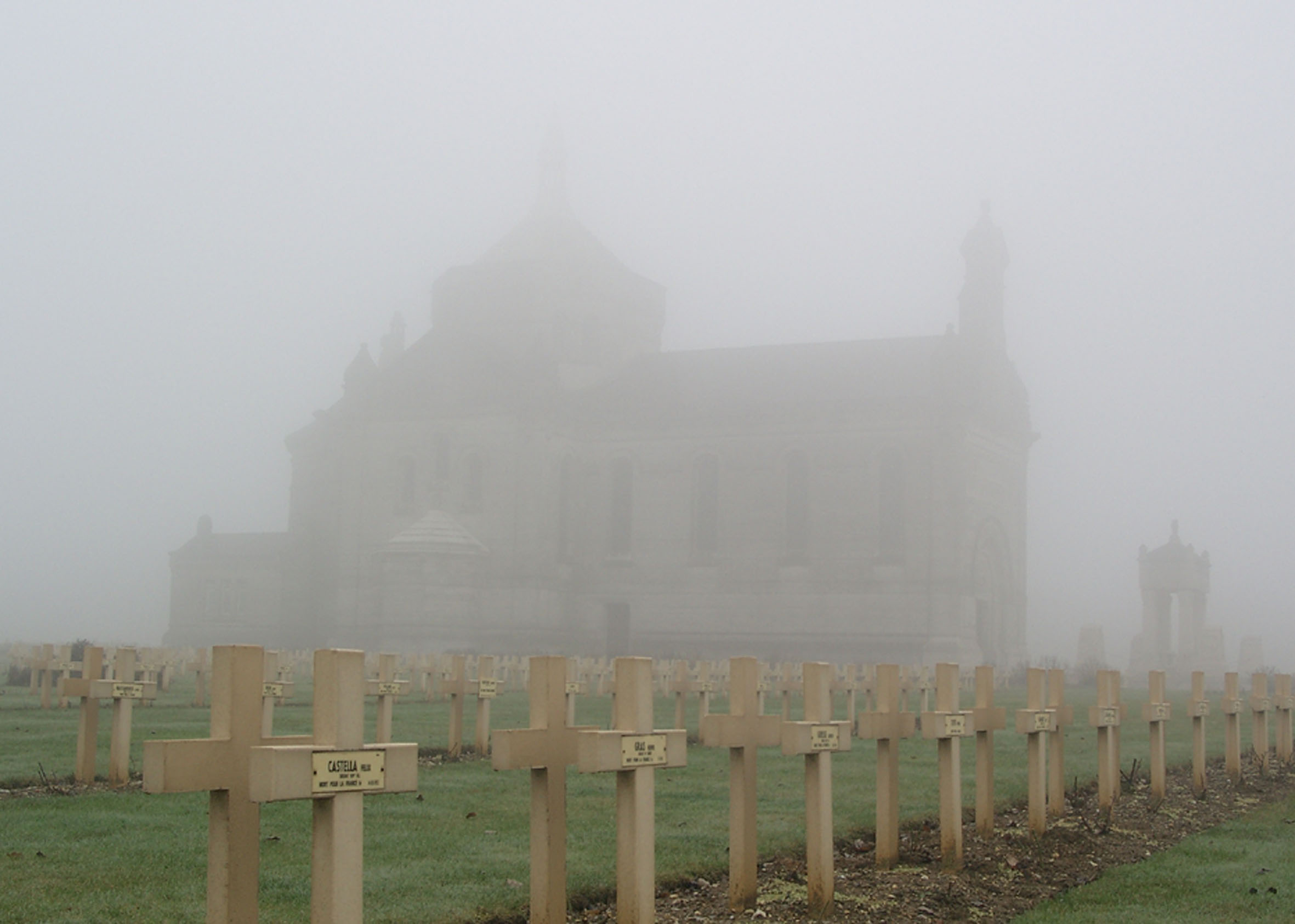 Basilica on top of the Lorette Hill in the Middle of the French Military Cemetery
