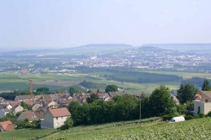 View over the Marne Valley close to Epernay
