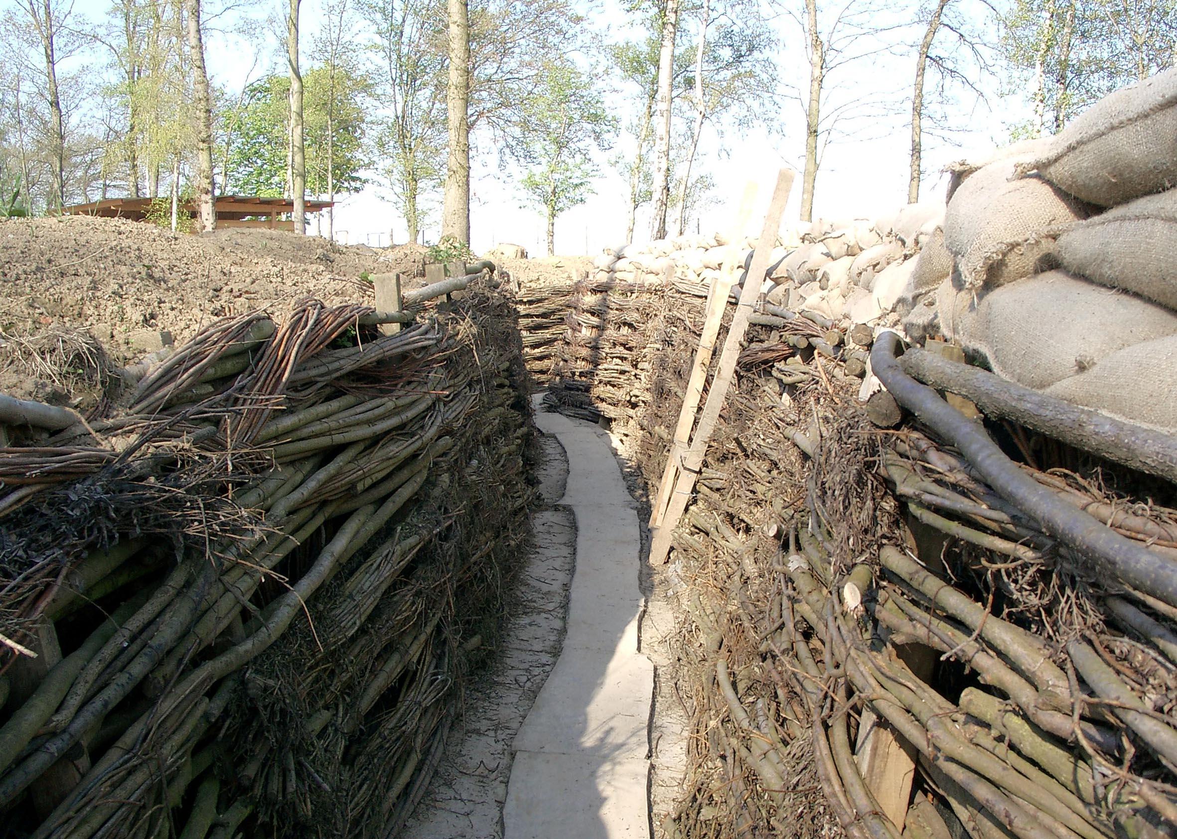 Rebuilt German Trenches at the Bayern-Wald