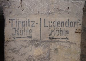 German Markings in an underground Quarry, the Tirpitz+Ludendorff-Höhle