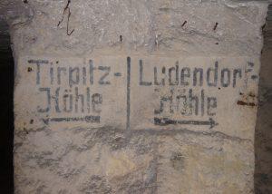 German Markings in an underground Quarry, the Tirpitz+Ludendorff-Höhle