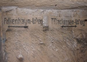 German Inscriptions in an underground Quarry, the Tirpitz+Ludendorff-Höhle