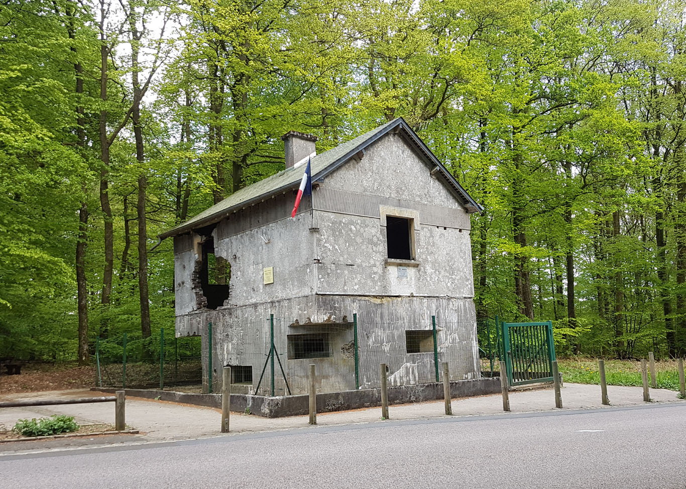 French concrete Bunker South of St.-Menges