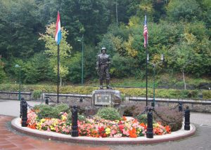 Monument at Clervaux to remember the GIs that liberated Luxembourg and Clervaux