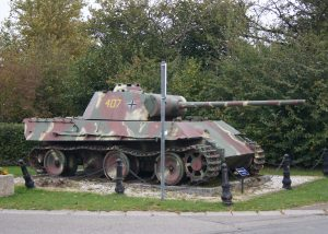 German Panther Tank at the village of Grandmenil