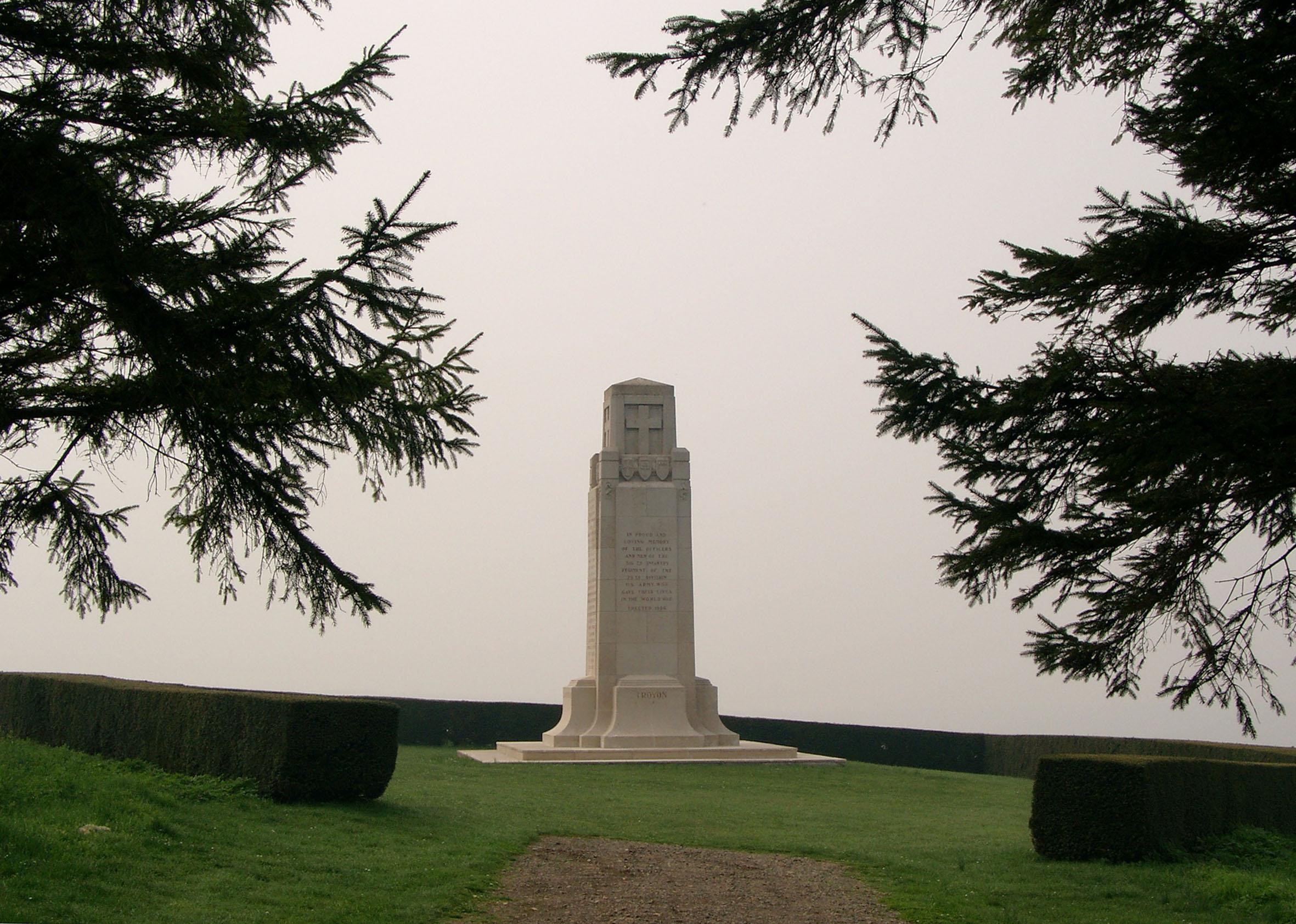 Monument to 316th US Infantry Regiment at La Gande Montagne